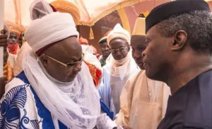 Osinbajo with Emir of Daura
