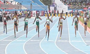 Athletes during Asaba games