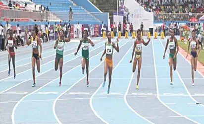 Athletes during Asaba games  The clock is ticking on Alozie's African record #Nigeria asaba ok