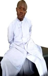 *The nabbed fake seminarian, Gabriel Chidera Okani