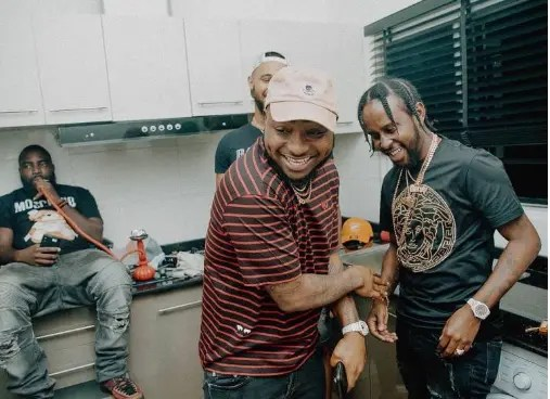 Davido hosts Jamaica dancehall superstar Popcaan - Vanguard News