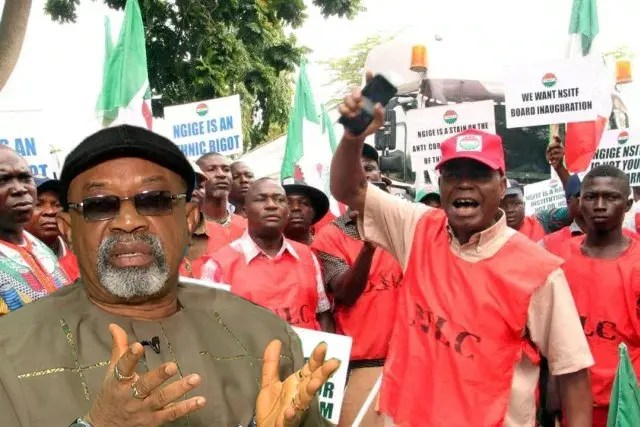 Image result for Ngige bows to Labour, inaugurates NSITF board