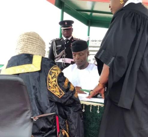 Osinbajo takes oath of office
