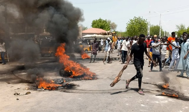 Mob sets police station ablaze over alleged killing of youth