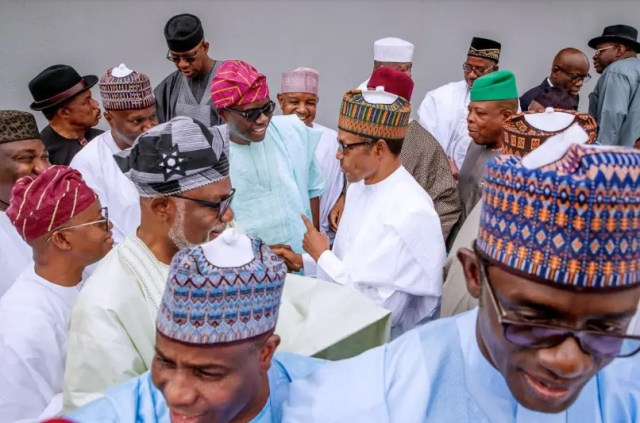President Buhari meets with 36 State Governors and Service Chiefs