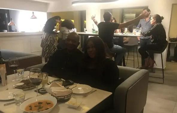 Urhobo Progressive Union President, Moses Taiga spotted with wife, Oyeyinka