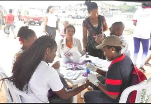 National HIV Testing Day in Uselu Market, Egor LGA, Edo State.
