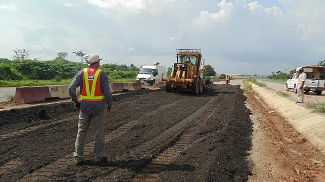 Image result for FG begins road expansion on Lagos-Ibadan expressway