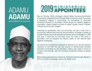 Adamu, Minister, Buhari