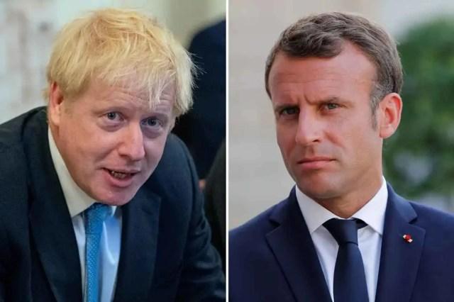 Boris Johnson-Macron