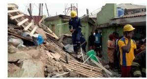 Building collapse in Lagos