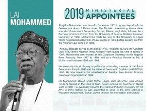 Profile: Lai Mohammed as Minister of Information and Culture