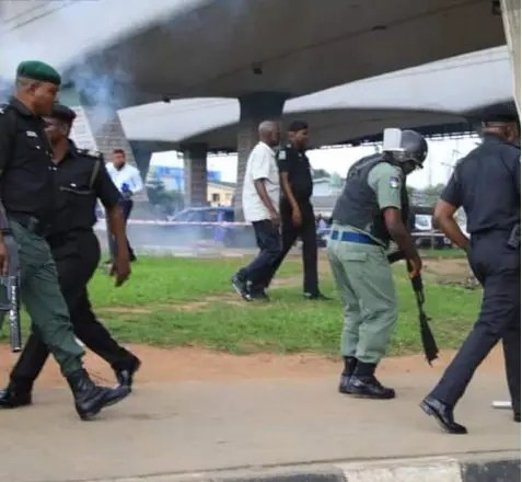 Image result for Security Operatives Disperse 'RevolutionNow' Protesters