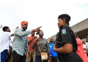 #RevolutionNow protesters in Lagos