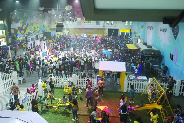 MTN Mpulse planet stormed by Over 5 thousand kids just for fun 2