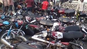 4,500 impounded 'okadas'