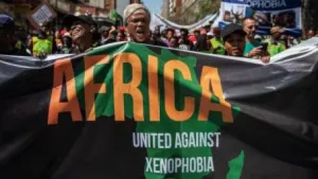 A recent march in South Africa called on people to oppose xenophobia.