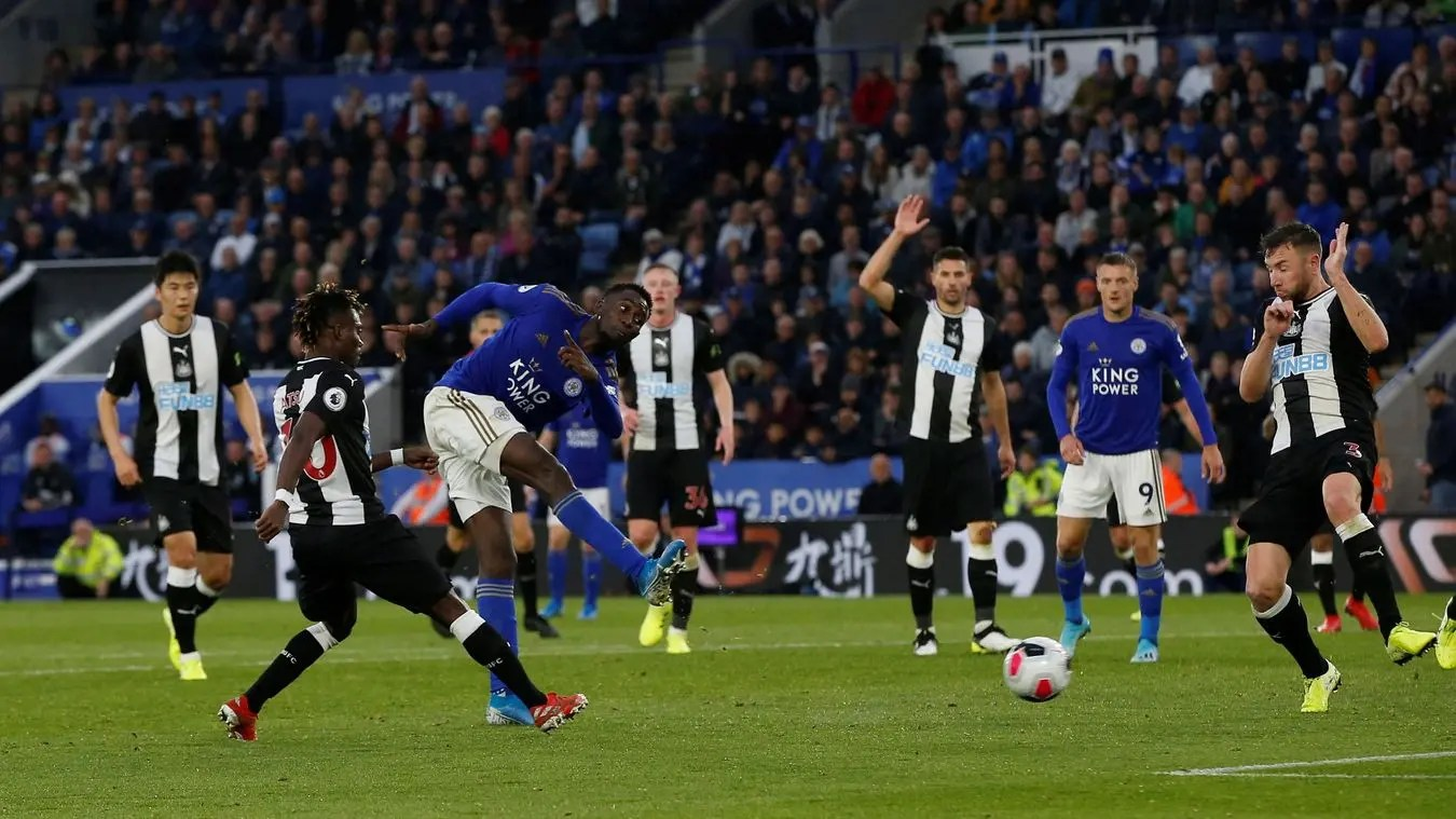 Image result for pic of ndidi scores against newcastle