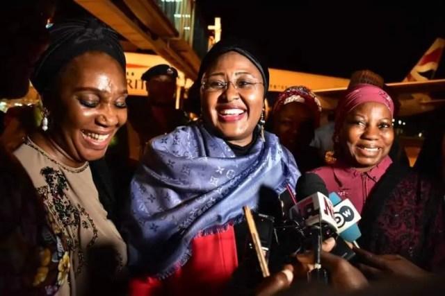 Aisha Buhari returns, cautions Nigerians against spreading fake news