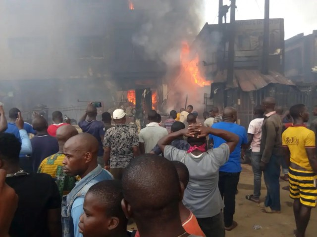 Updated: Fuel tanker explodes in Onitsha, burns over 40 buildings
