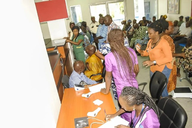Edo Specialist Hospital's free healthcare exercise excites the elderly in Edo