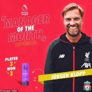 Liverpool boss, Jurgen Klopp