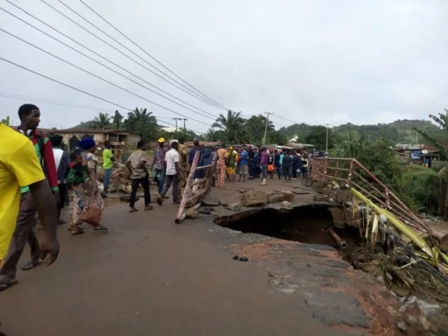 FERMA visits collapsed bridge in Ekiti, seeks prompt action