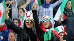 Iran beats Cambodia 14-0 in historic match attended by women