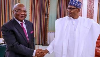 Uzodinma, Buhari, Buhari's Visit