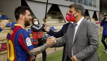 Barca chief, Laporta urges patience on Messi's new contract