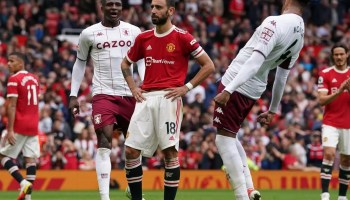 Man United's Fernandes apologises for penalty miss in 1-0 Villa defeat