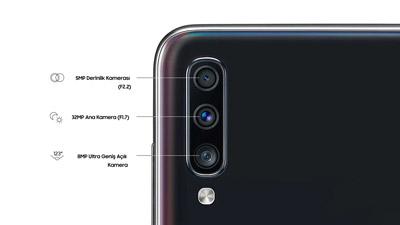 الكاميرات Samsung Galaxy A70