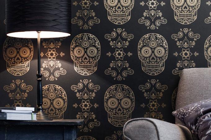 NextCrave  Sugar Skull Wallpaper