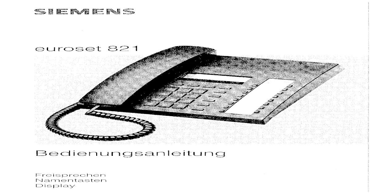 EUROSET 835 BEDIENUNGSANLEITUNG PDF