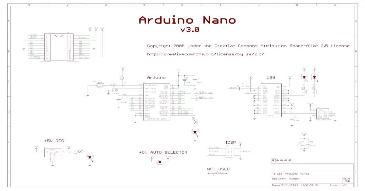 Schaltplan Arduino Nano