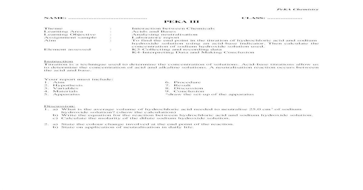 Acid base titration lab report conclusion. Lab Report Acid