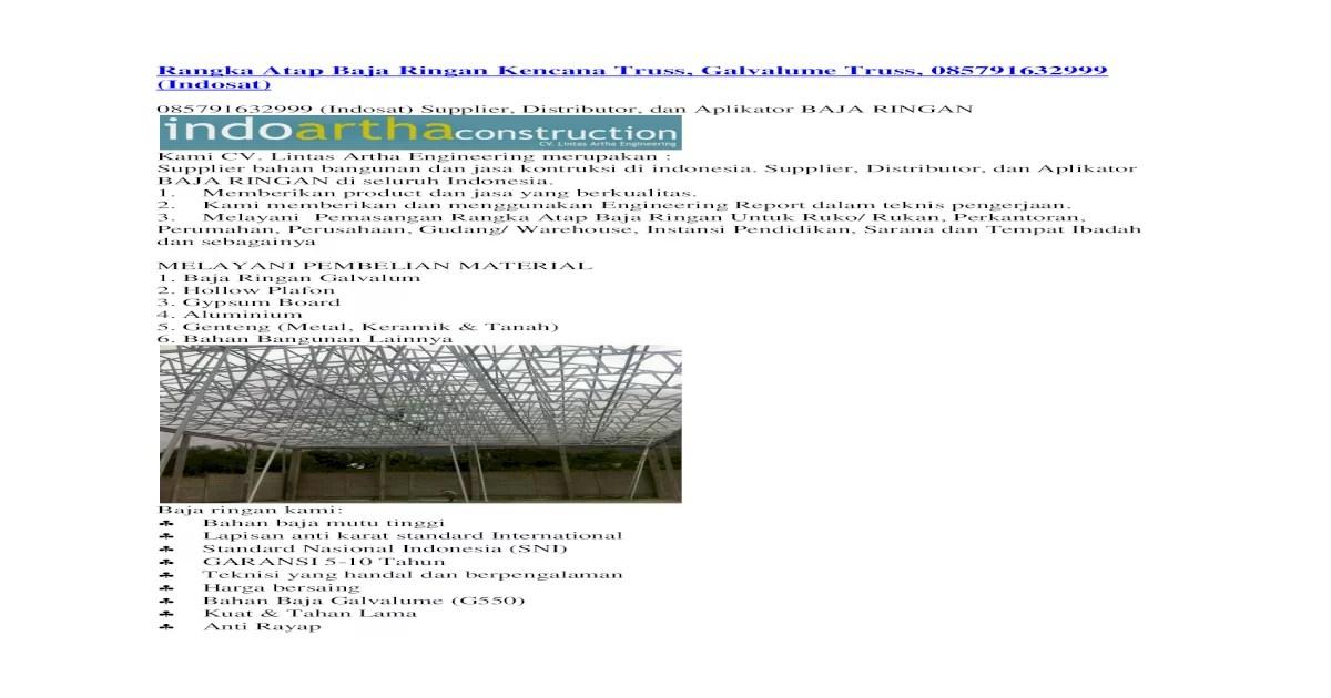 distributor baja ringan kencana rangka atap truss galvalume