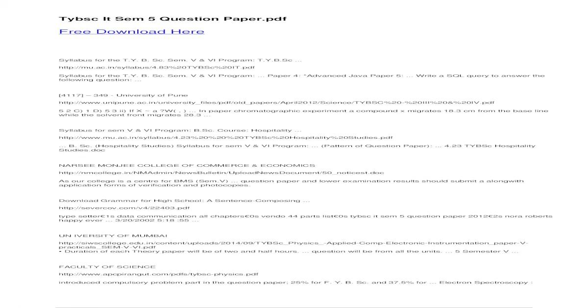 Bestseller: Fybsc Chemistry Question Paper 2013 Pattern
