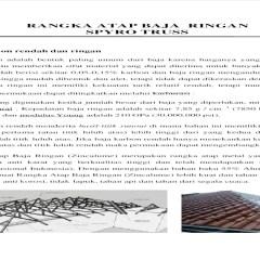 Dimensi Truss Baja Ringan Rangka Atap Pdf Document