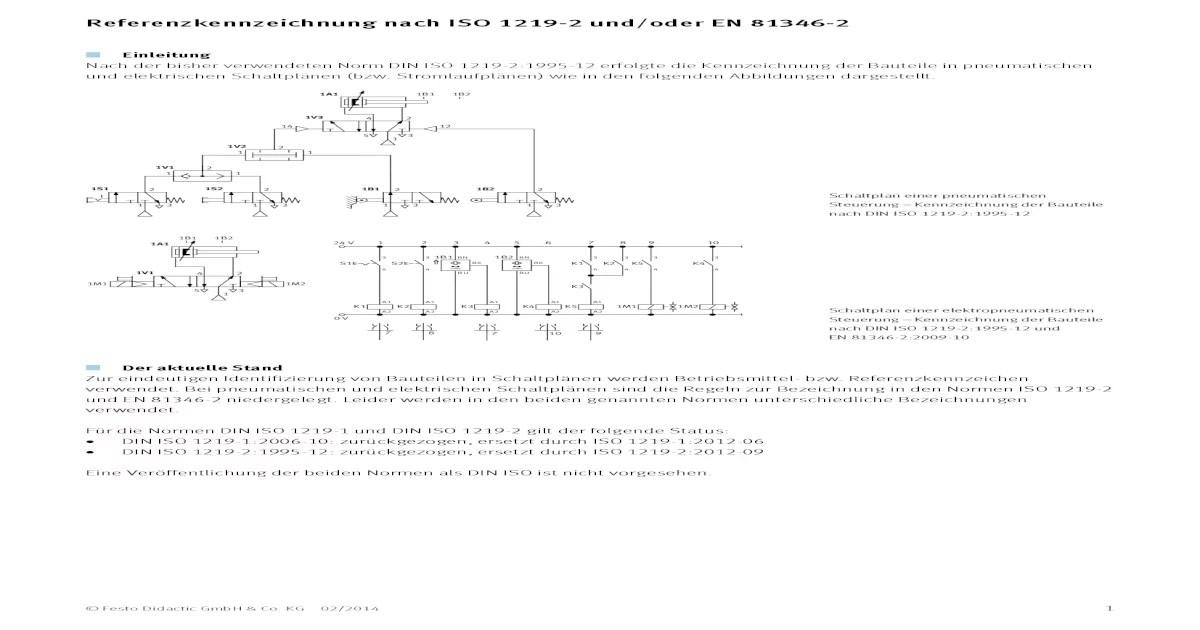 Schaltplan Elektrotechnik Norm