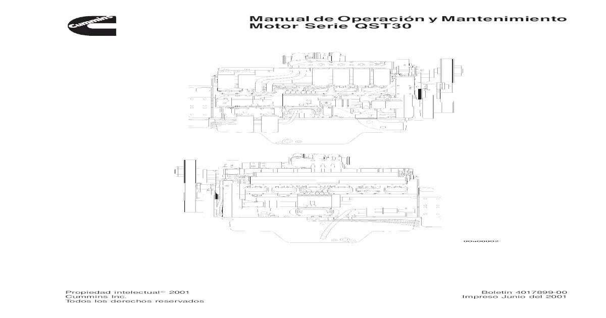 Manual de Servicio y Operacion Del Motor Cummins QST-30