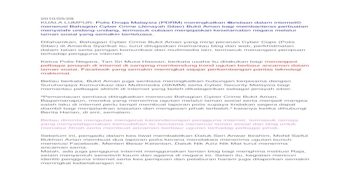 jenayah internet - [DOCX Document]