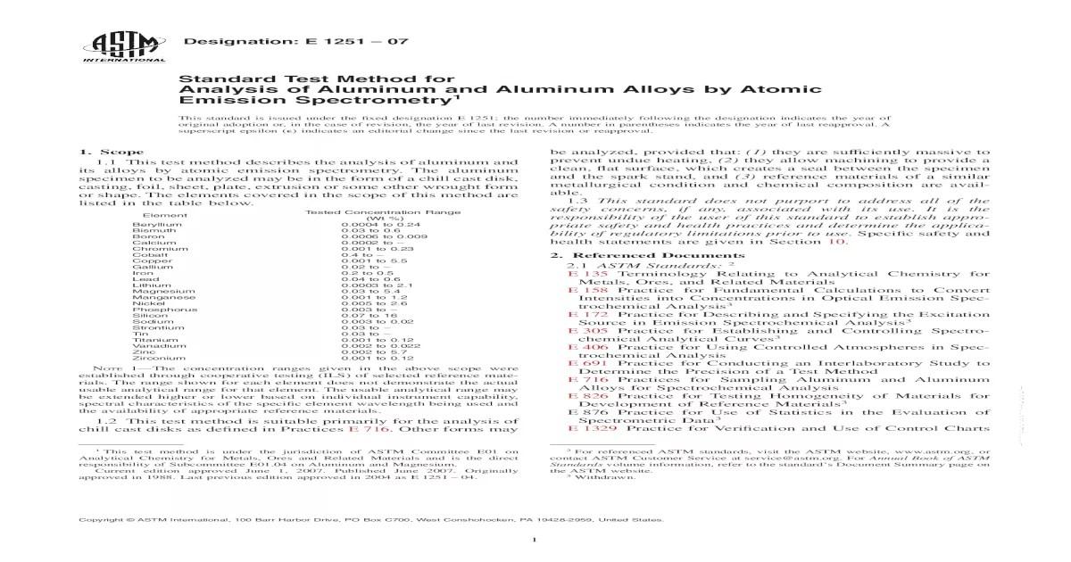 ASTM E1251 11 PDF