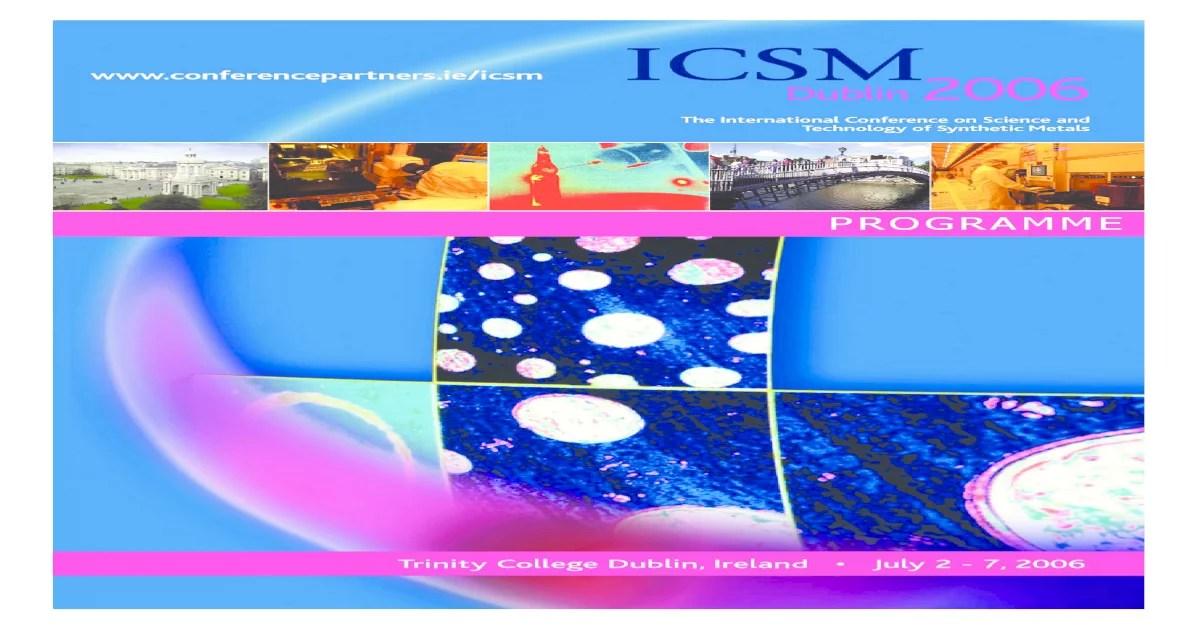 Icsm Full Programme Synt Met Pdf Document