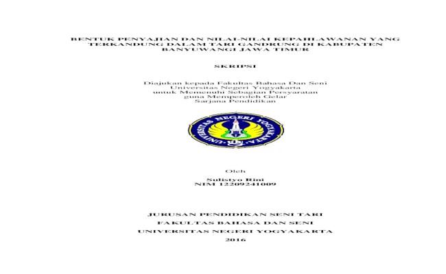 Contoh Proposal Skripsi Pendidikan Seni Rupa Terkait Pendidikan Cute766