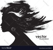 woman hair style silhouette royalty