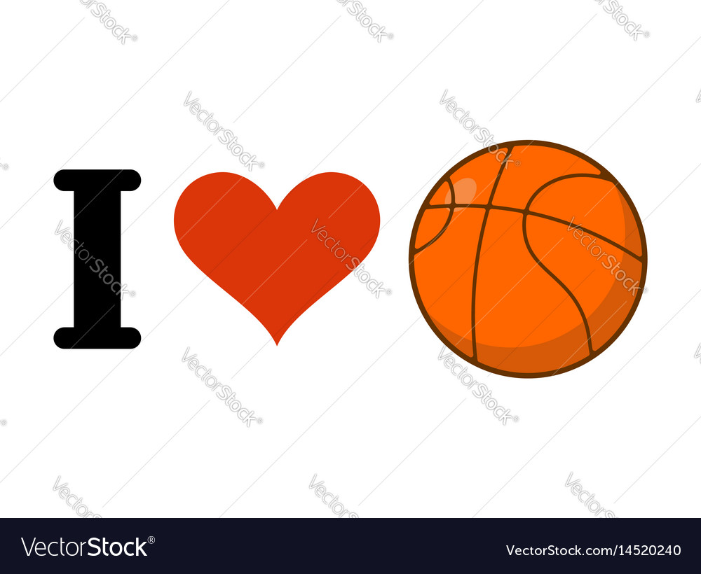 Download I love basketball heart and ball games emblem for Royalty ...