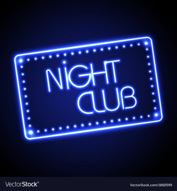 Neon Sign Night Club Royalty Free Vector