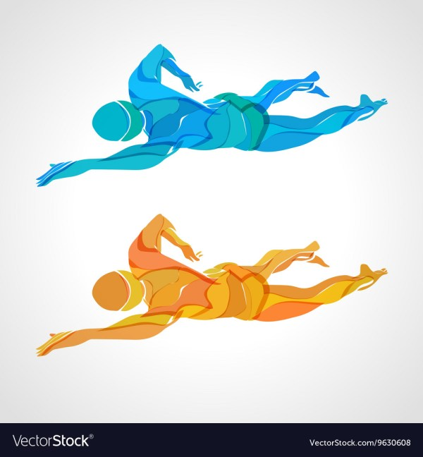 Freestyle Swimming Vector