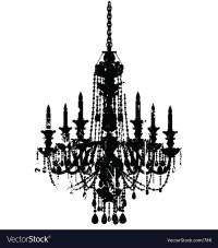 Vintage chandelier Royalty Free Vector Image - VectorStock